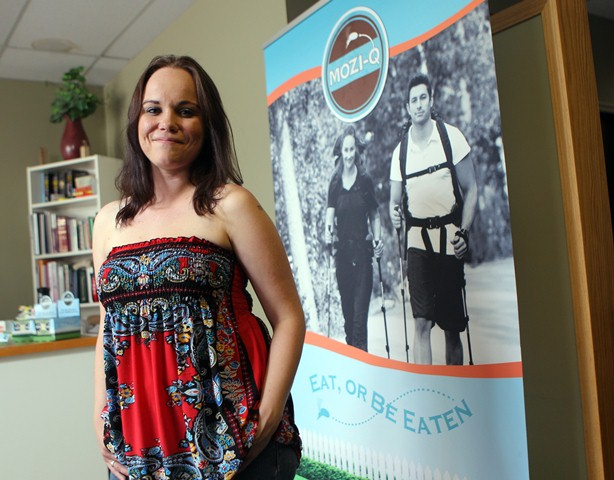 Erin Bosch of Mozi-Q (The all natural way to fight bugs!) poses in her Calgary based homeopathic clinic.